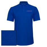 Royal Dry Zone Grid Polo-Blue Hose