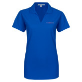 College Ladies Royal Dry Zone Grid Polo-Blue Hose