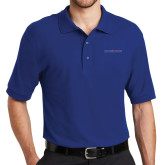 College Royal Easycare Pique Polo-Blue Hose