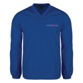 V Neck Royal Raglan Windshirt-Blue Hose
