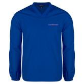 College V Neck Royal Raglan Windshirt-Blue Hose