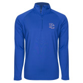 College Sport Wick Stretch Royal 1/2 Zip Pullover-PC