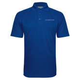 College Royal Textured Saddle Shoulder Polo-Blue Hose