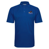College Royal Textured Saddle Shoulder Polo-Mascot