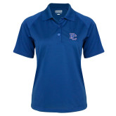 College Ladies Royal Textured Saddle Shoulder Polo-PC