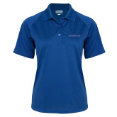 College Ladies Royal Textured Saddle Shoulder Polo-Blue Hose