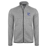 Grey Heather Fleece Jacket-PC