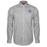 College Red House Grey Plaid Long Sleeve Shirt-PC