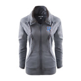Ladies Sport Wick Stretch Full Zip Charcoal Jacket-PC