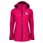 Ladies Dark Fuchsia Waterproof Jacket-PC