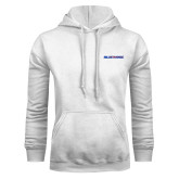 White Fleece Hood-Blue Hose
