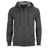 Charcoal Fleece Full Zip Hood-Blue Hose