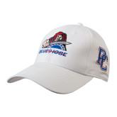 White Heavyweight Twill Pro Style Hat-Mascot