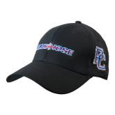 Black Heavyweight Twill Pro Style Hat-Blue Hose