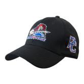 Black Heavyweight Twill Pro Style Hat-Mascot