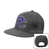 College Charcoal Flat Bill Snapback Hat-PC