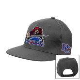 College Charcoal Flat Bill Snapback Hat-Mascot