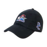 Black Twill Unstructured Low Profile Hat-Mascot