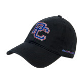 College Black Twill Unstructured Low Profile Hat-PC