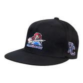 Black OttoFlex Flat Bill Pro Style Hat-Mascot