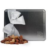 Deluxe Nut Medley Silver Large Tin-PC Engraved