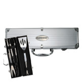 Grill Master 3pc BBQ Set-Blue Hose Engraved