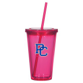 Madison Double Wall Pink Tumbler w/Straw 16oz-PC