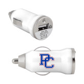 On the Go White Car Charger-PC