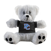 Plush Big Paw 8 1/2 inch White Bear w/Black Shirt-PC