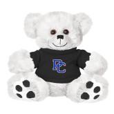 Plush Big Paw 8 1/2 inch White Bear w/Black Shirt-PC