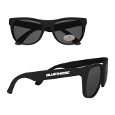 Black Sunglasses-Blue Hose