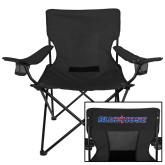 Deluxe Black Captains Chair-Blue Hose