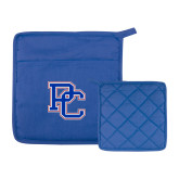 College Quilted Canvas Royal Pot Holder-PC
