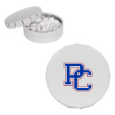 College White Round Peppermint Clicker Tin-PC