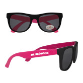 Black/Hot Pink Sunglasses-Blue Hose