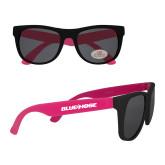 College Black/Hot Pink Sunglasses-Blue Hose