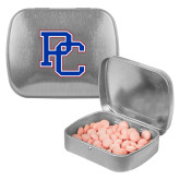 College Silver Rectangular Peppermint Tin-PC