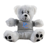 Plush Big Paw 8 1/2 inch White Bear w/Grey Shirt-PC