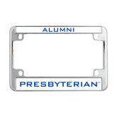 Presbyterian Metal Motorcycle License Plate Frame in Chrome-Alumni