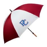 62 Inch Cardinal/White Umbrella-PC
