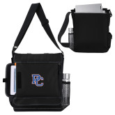 College Impact Vertical Black Computer Messenger Bag-PC