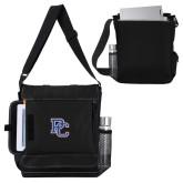 College Impact Vertical Black Computer Messenger Bag-PC