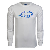 White Long Sleeve T Shirt-Beaver Head