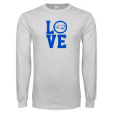 White Long Sleeve T Shirt-LOVE