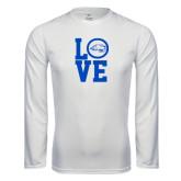 Syntrel Performance White Longsleeve Shirt-LOVE