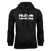 Black Fleece Hoodie-Pratt Community College w/ Beaver Head