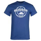Royal T Shirt-Arched Pratt CC Beavers w/ Ball