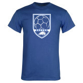Royal T Shirt-Soccer Shield w/ Logo