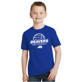 Youth Royal T Shirt-Pratt CC Beavers Volleyball Stacked