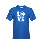 Youth Royal T Shirt-LOVE